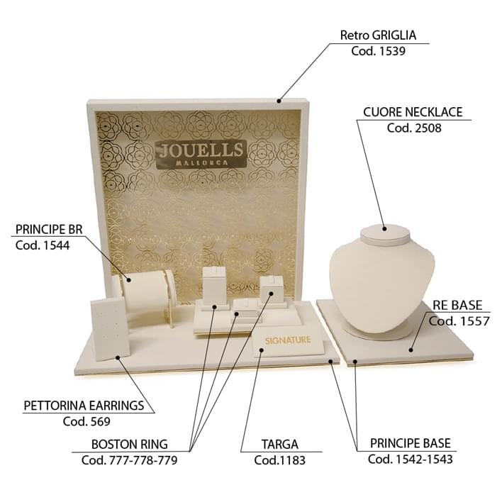 Set de prèsentoires pour bijouteries - vetrina-griglia2