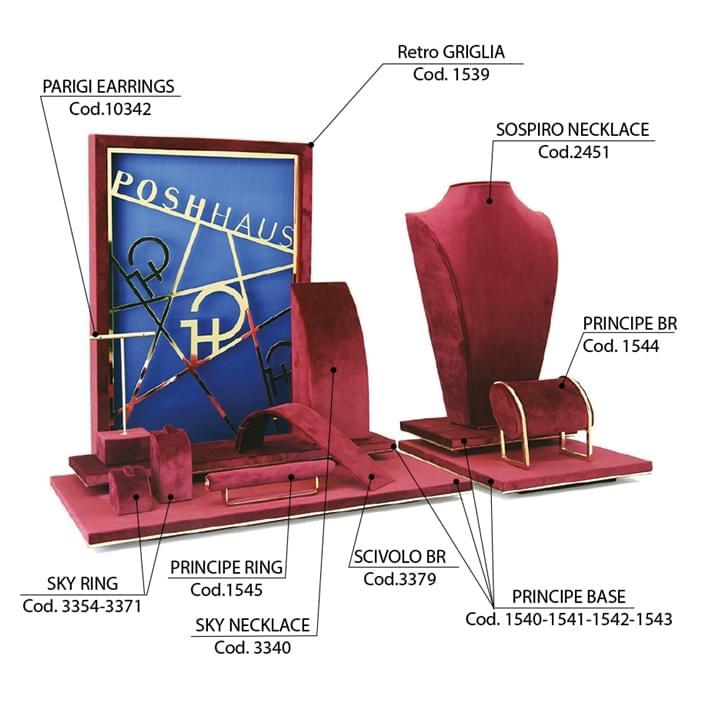 Set de prèsentoires pour bijouteries - vetrina-griglia3